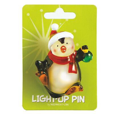 Light Up Pin (Wonderlights Light-Up Acrylic Penguin Christmas Pin)