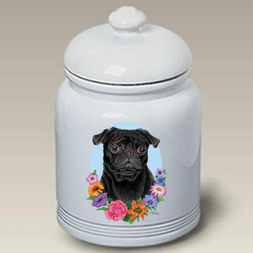 Pug Black Treat Jar