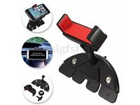 UNIVERSAL 360° Car Auto CD Player Dash Slot Mount Holder Stand For Phone GPS MP4