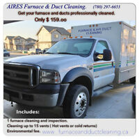 FURNACE AND DUCT CLEANED THE BEST PRICE $159