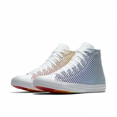 Mens Chuck Taylor All Star Pride Footwear Multi/White/White 158404C Size 12