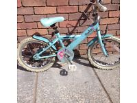 Apollo blue sparkle bike from Halfords