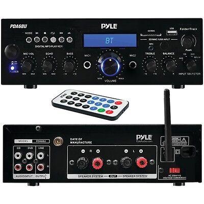 Pyle Home Pda6Bu 200-Watt Bluetooth Stereo Amp Receiver With
