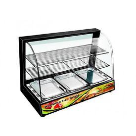 Tansik Black Hot Food Chicken Warmer Display Cabinet Showcase