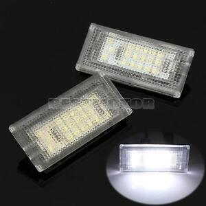 2 ERROR FREE LED LICENSE NUMBER PLATE LIGHTS LAMP FOR MINI COOPER S R50 R52 R53