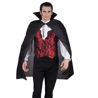 UMHANG mit Stehkragen schwarz Cape - Kostüm Karneval Venedig Vampir Dracula #922 (Schwarzes Vampir Kostüm)