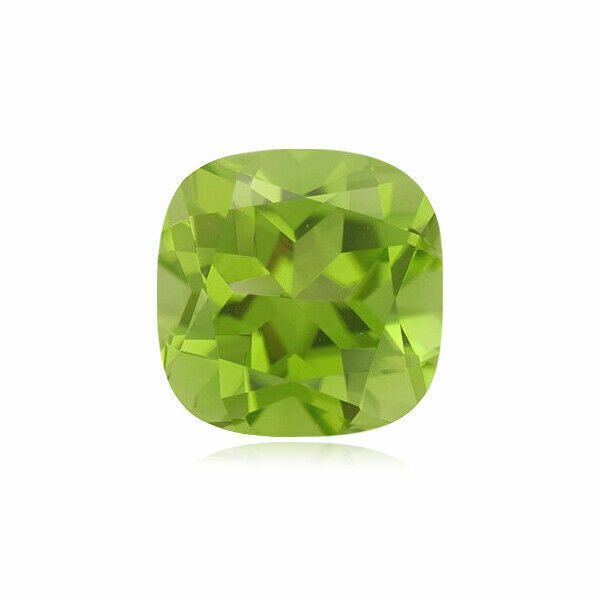 Natural Cushion Shape AAA Quality Loose Peridot Gemstone Available in 5MM-8MM