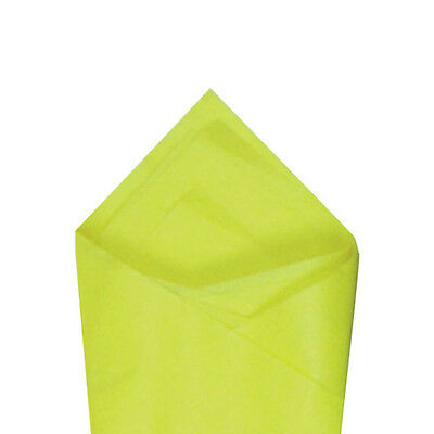 24 Sheets Pack 20 X 30 Limon Yellow Quality Premium Grade Color Tissue Paper