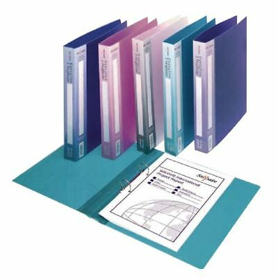 Snopake Polypropylene Executive A4 Ring Binder 25mm Electra Assorted  [SK04459]