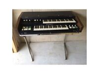 Hammond organ for spares repairs with flight case, stand and misc cables