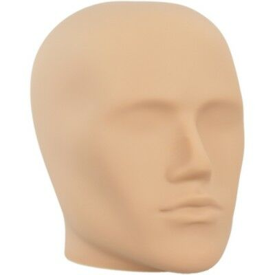 Mn-e2 Fleshtone Plastic Male Abstract Head Attachment For Form Or Mannequin