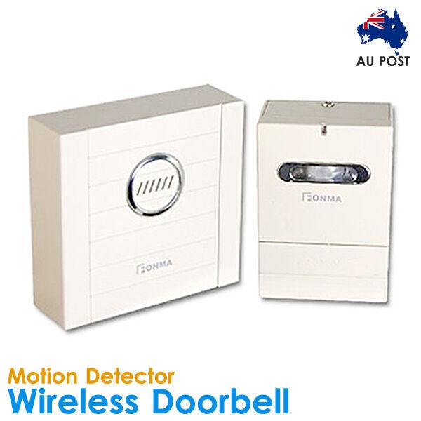 Wireless Doorbell Door Chime Bell Movement Sensor Alarm 4 Shop Home Infrared IR