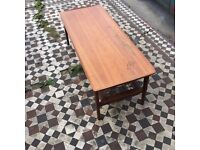 Retro old coffee table