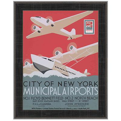 USPS New WPA - Municipal Airports Framed Art