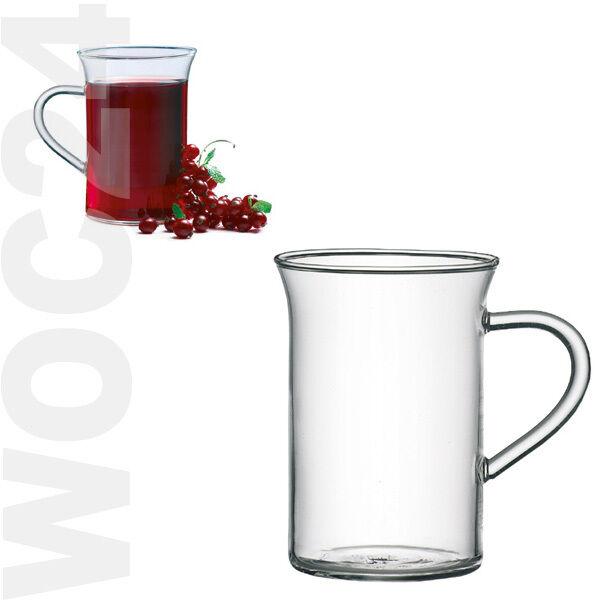 6 Borosilikat Henkelbecher Glühweingläser Kaffeegläser Teegläser Teeglas Henkel