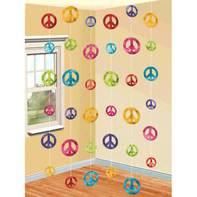 Sixties Party Decorations (Classic 60's Feeling Groovy Hanging String Decorations Party Supplies ~)