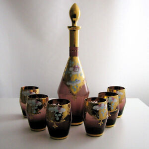 Decanter Set(Hand Painted)