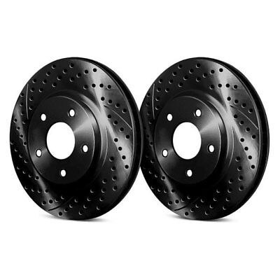 For Subaru Impreza 93-01 Drilled & Slotted 1-Piece Front Brake Rotors