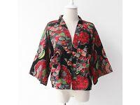Vintage Ukiyoe style Japanese style coat Size 12