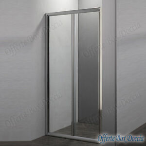 Cabina box doccia apertura porta a libro per nicchia 70 80 - Porta cabina doccia ...