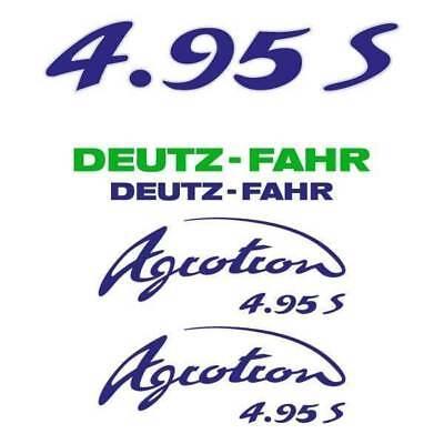 Deutz-fahr Agrotron 4.95 S Tt Tractor Decal Aufkleber Sticker Set