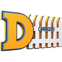 San Diego Chargers 3D Foam Defense Sign With Hand Strap (New)