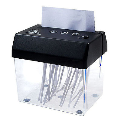 Compact Usb Shredder Letter Opener Home Office A6 Paper Shredding Head W Basket