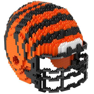 NFL CINCINNATI BENGALS 3D BRXLZ Puzzle Helm Helmet Set Football Footballhelm