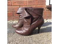Blanco - Brown leather ankle boots