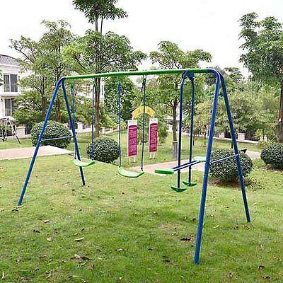 Kids Child Garden Double Swing & Glider Childrens Toy Playset Outdoor Swing Set