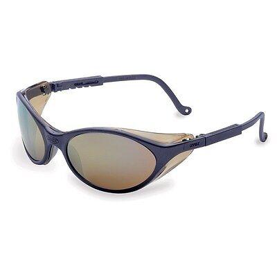 Uvex Bandit Safety Glasses - Slate Blue Frame With Mirror Lens