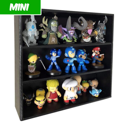 Display Geek - MINI Display Cases for Mystery Minis, Black Corrugated Cardboard