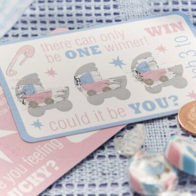"""Baby Shower Party-Spiel """"Tiny Feet"""", Rubbellose, 10 Stk."""