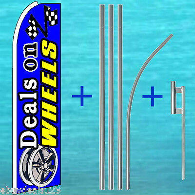 Deals On Wheels Flutter Flag 15 Tall Pole Mount Kit Feather Swooper Banner