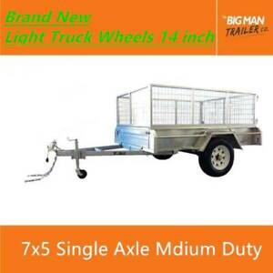 7x5 Hot Dip Galvanised Checker Plate Single Axle Trailer 750KG ATM Carrum Downs Frankston Area Preview