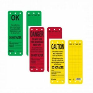 Scaffold Safety Tags SALE at Edmonton Scaffolding!
