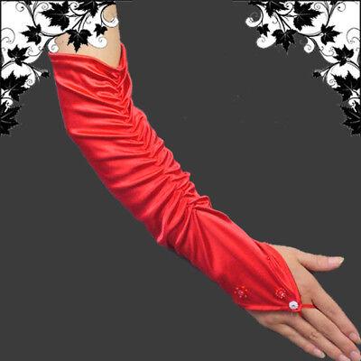 schuhe Handschuhe,Rot,43cm,HS-OB-R (Rote Fingerlose Handschuhe)