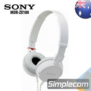 SONY MDR-ZX100 On-Ear Monitor Style Headphones Headset for iPhone iPod MP3 WHITE