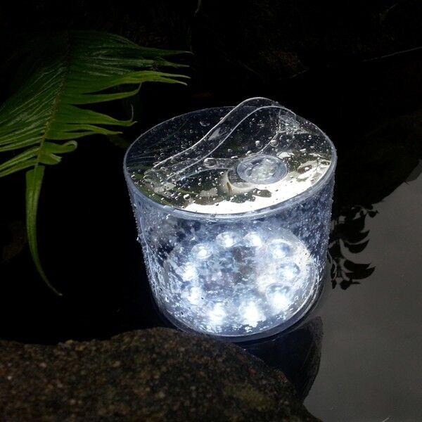 Aufblasbare LED Laterne Solarleuchte klar weiß, Camper… | 04250884929331