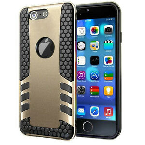 Gold Black Heavy Duty Shockproof Cover Case For iPhone 6 6+ 6S