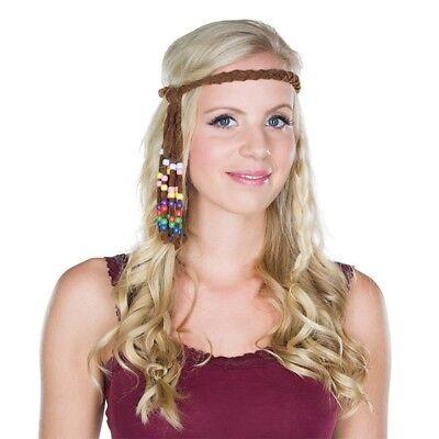 Kostüm-Zubehör Hippie Stirnband Erwachsene Karneval Fasching Neu