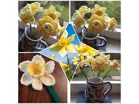 Handmade Crochet Daffodils