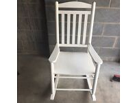 Nursery White rocking chair