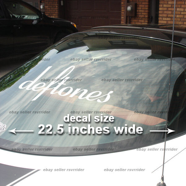 LARGE deftones rock band decal sticker