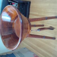 Large salad bowl on stand