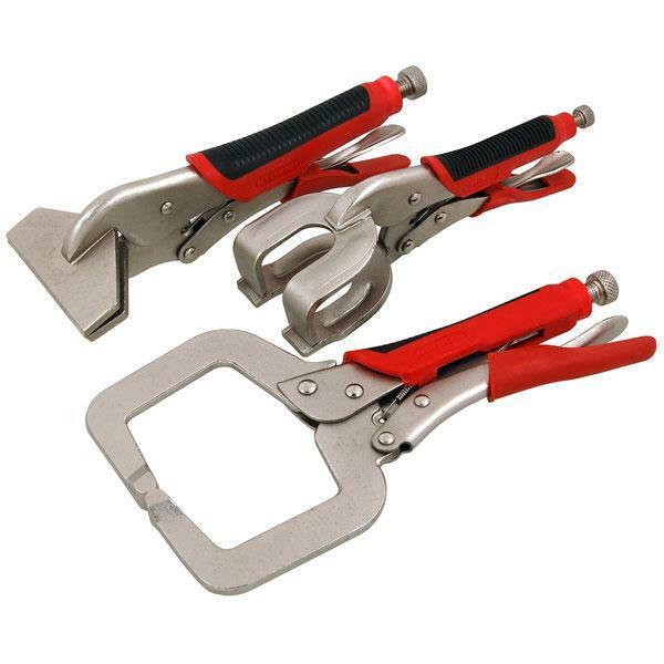 3 Piece Welding clamp Set - C clamp - Sheet Metal clamp - Weld clamp