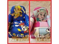 Paw patrol chair sofa toy box