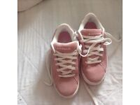 Pink suede air walk trainers - size 6