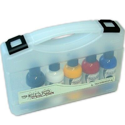 (106,67€/1l) Senjo-Color Bodypainting Farbe Set 5x75ml im Koffer- dermatologisch
