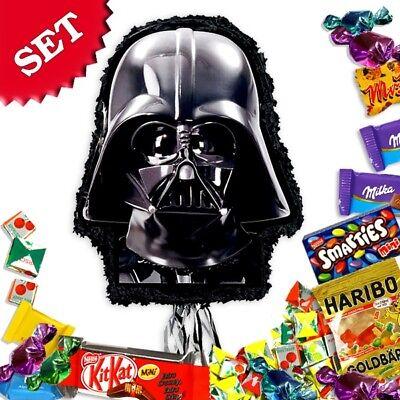 Darth Vader-Pullpinata/Zugpinata im Set +Süßigkeitenfüllung Geburtstag